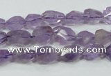 CNA200 15.5 inches 8*14mm faceted nugget natural amethyst beads