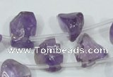 CNA205 15.5 inches 12*20mm natural amethyst gemstone chips beads