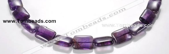 CNA22 13*18mm rectangle A- grade natural amethyst bead Wholesale