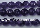 CNA253 15.5 inches 10mm faceted round natural amethyst beads