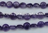 CNA266 15.5 inches 8mm flat round natural amethyst beads wholesale