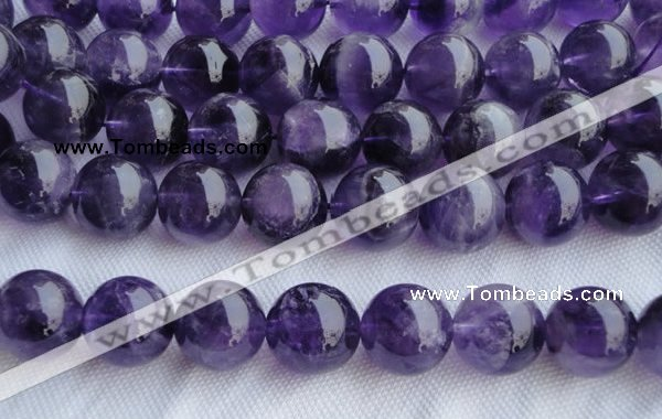 CNA27 15.5 inches 16mm round grade B natural amethyst beads wholesale