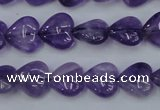 CNA282 15.5 inches 12*12mm heart natural amethyst beads wholesale