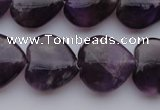 CNA298 15.5 inches 16*16mm heart natural amethyst gemstone beads