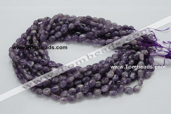 CNA31 15.5 inches 8*10mm oval grade AB natural amethyst beads