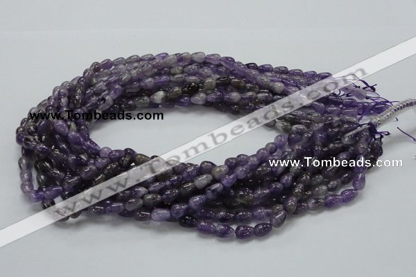 CNA32 15.5 inches 6*9mm teardrop grade A natural amethyst beads