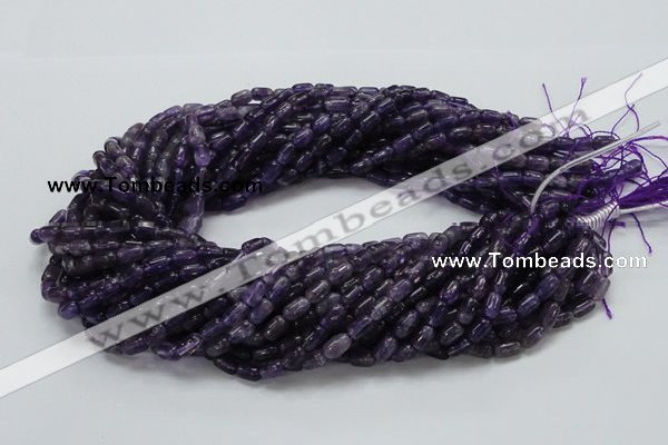 CNA33 15.5 inches 5*8mm rice grade A natural amethyst beads
