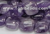 CNA42 15.5 inches 15*15mm square grade A natural amethyst beads