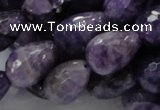 CNA48 15.5 inches 13*18mm faceted teadrop grade AB natural amethyst beads