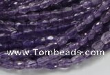 CNA49 15.5 inches 4*6mm faceted rice grade A natural amethyst beads