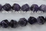 CNA503 15 inches 10mm faceted nuggets amethyst gemstone beads