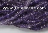CNA59 15.5 inches 3*5mm faceted rondelle grade A natural amethyst beads