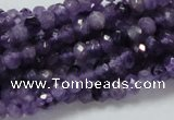 CNA60 15.5 inches 4*6mm faceted rondelle grade AB+ natural amethyst beads