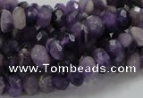 CNA61 15.5 inches 6*8mm faceted rondelle grade AB+ natural amethyst beads