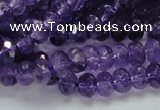 CNA62 15.5 inches 6*9mm faceted rondelle grade A natural amethyst beads