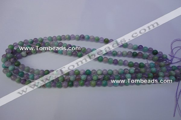 CNA651 15 inches 6mm round lavender amethyst & amazonite beads