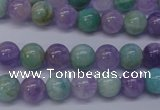 CNA652 15 inches 8mm round lavender amethyst & amazonite beads