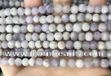 CNA675 15.5 inches 4mm round matte lavender amethyst beads