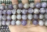 CNA689 15.5 inches 12mm faceted round lavender amethyst beads