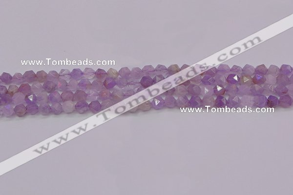 CNA691 15.5 inches 6mm faceted nuggets lavender amethyst beads