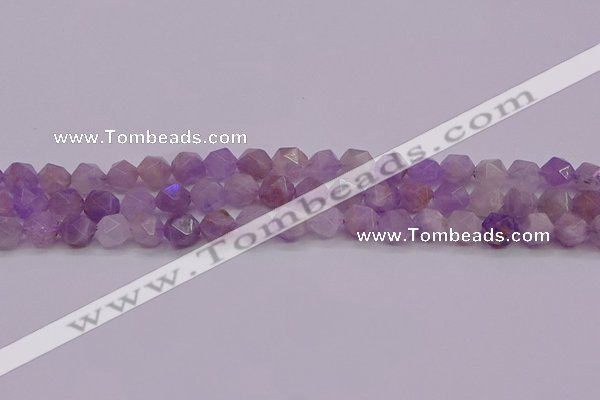 CNA693 15.5 inches 10mm faceted nuggets lavender amethyst beads