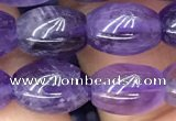 CNA771 15.5 inches 8*11mm rice amethyst gemstone beads