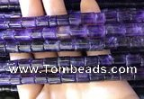 CNA778 15.5 inches 8*8mm - 8*9mm tube natural amethyst beads