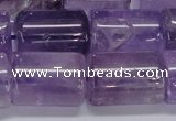 CNA815 15.5 inches 15*20mm tube natural light amethyst beads