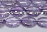 CNA830 15.5 inches 10*14mm oval natural light amethyst beads