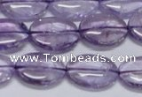 CNA831 15.5 inches 12*16mm oval natural light amethyst beads