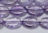 CNA832 15.5 inches 13*18mm oval natural light amethyst beads