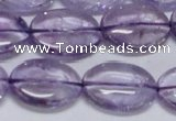 CNA833 15.5 inches 15*20mm oval natural light amethyst beads