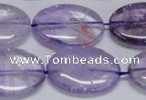 CNA835 15.5 inches 20*30mm oval natural light amethyst beads