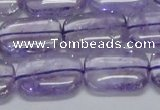 CNA852 15.5 inches 13*18mm rectangle natural light amethyst beads