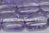CNA853 15.5 inches 15*20mm rectangle natural light amethyst beads