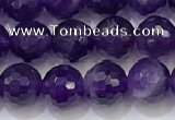 CNA991 15.5 inches 6mmm faceted round amethyst beads wholesale