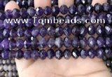 CNA996 15.5 inches 7*10mm faceted rondelle amethyst beads wholesale