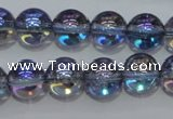 CNC301 15.5 inches 6mm round AB-color white crystal beads