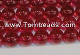 CNC411 15.5 inches 6mm round dyed natural white crystal beads