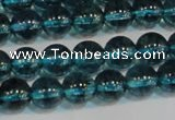 CNC422 15.5 inches 8mm round dyed natural white crystal beads