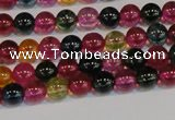 CNC450 15.5 inches 4mm round dyed natural white crystal beads