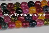 CNC451 15.5 inches 6mm round dyed natural white crystal beads