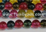 CNC452 15.5 inches 8mm round dyed natural white crystal beads