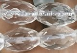 CNC722 15.5 inches 8*12mm faceted rice white crystal beads
