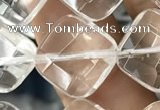 CNC756 15.5 inches 14*14mm faceted diamond white crystal beads