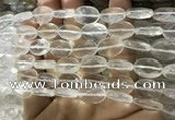 CNC841 15.5 inches 10*14mm faceted oval white crystal beads
