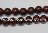 CNE10 15.5 inches 10mm round red stone needle beads wholesale