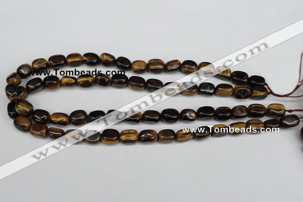 CNG01 15.5 inches 9*12mm nuggets yellow tiger eye gemstone beads