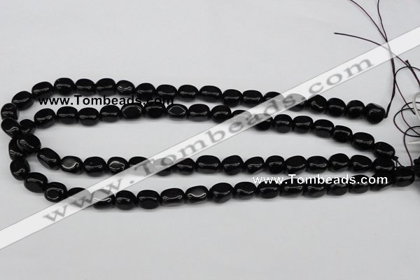 CNG03 15.5 inches 9*12mm nuggets black agate gemstone beads