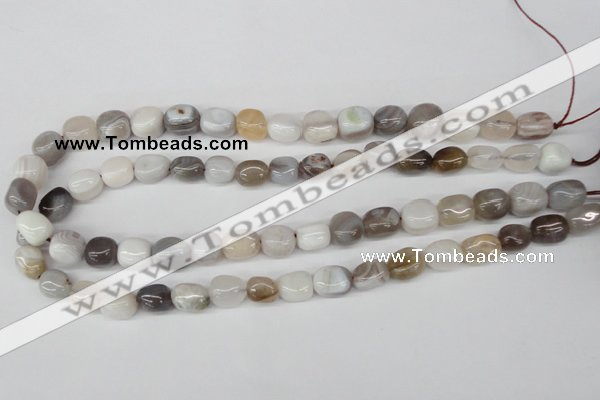 CNG10 15.5 inches 9*12mm nuggets botswana agate gemstone beads